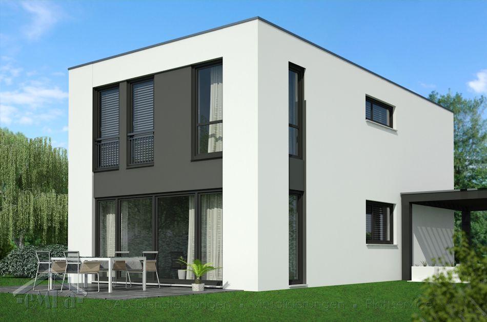 EFH Bauhaus 6,50x12,00 Garten