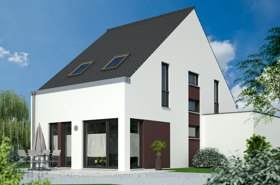 EFH Satteldach 6,00x12,00 Garten
