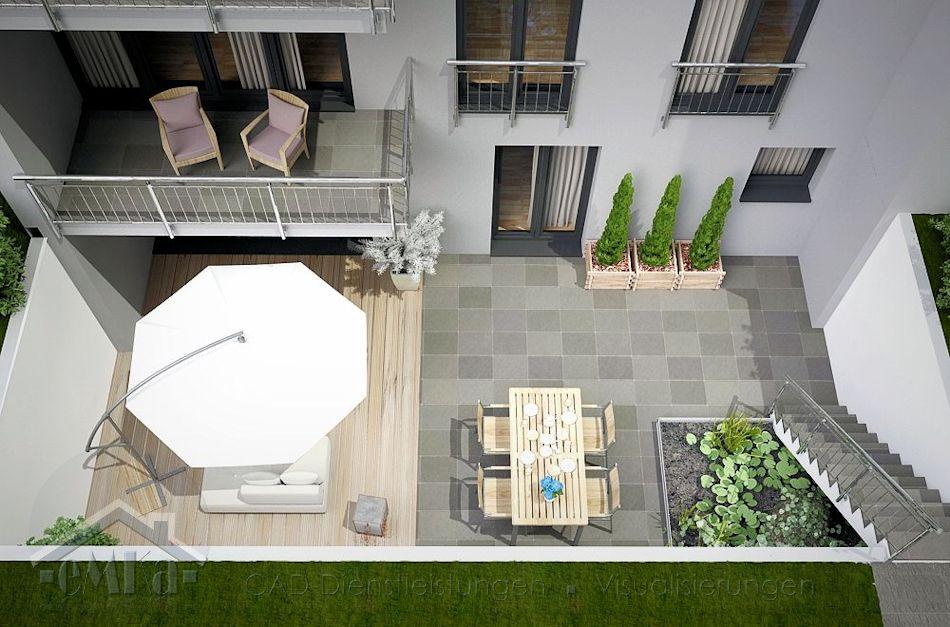 Mettmann Atrium Terrasse links 2