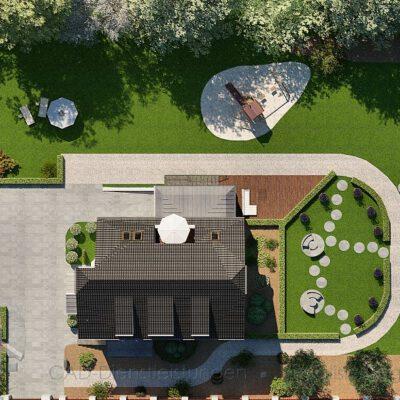 Garten Lageplan 3D Grundriss
