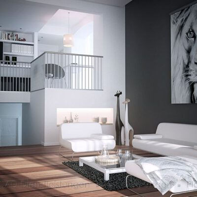 Wohnzimmer auf 2 Ebenen