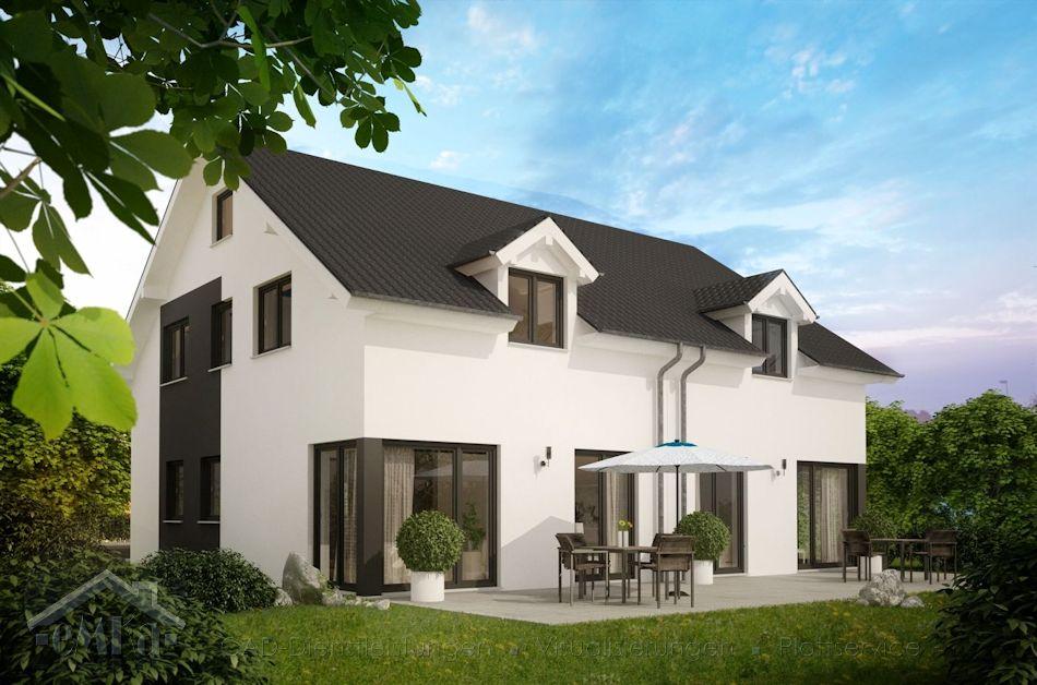 neues Doppelhaus Garten neu
